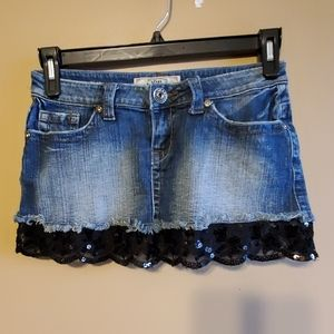YMI Denim and Lace Skirt